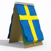 Flag with spiral Sweden — Foto Stock