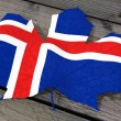 Leaf color flag Iceland — Stockfoto #69464475