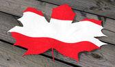 Leaf color flag Austria — Stock Photo