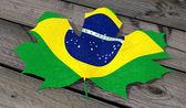 Leaf color flag Brazil — Stock Photo