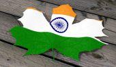 Leaf color flag India — Stock Photo