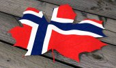 Leaf color flag Norway — Stock Photo