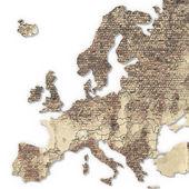 Europe 3D texture map — Stock Photo