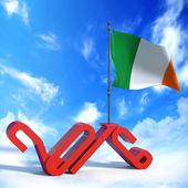 Anno 2016 con bandiera Irlandia — Zdjęcie stockowe