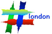 Hashtag London 3D — Stock Photo