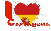 I love Cartagena — Stock Photo