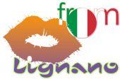 Kiss from Lignano — Stock Photo