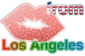 Kiss from Los Angeles — Stock Photo