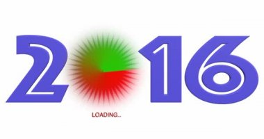 Animation Loading New Year 2016 — Stock Video