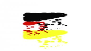Animation  Germany flag with moving loading — Stock Video