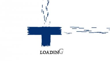 Animation Finland flag with moving loading — Stock Video