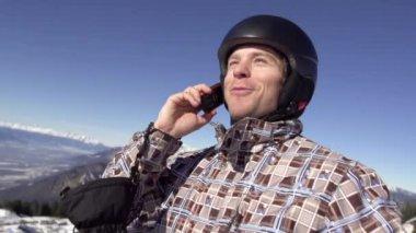 Man Making Telephone Call — Stock Video