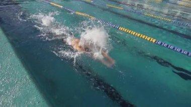 Nadador profesional formación — Vídeo de Stock