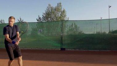 Player Hitting The Ball — Stok video