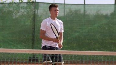 Tennis Player Training — Stock Video