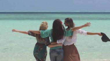 Women Observing  Paradise — Stock Video
