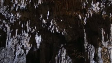 Natural Limestone Cave — Stock Video