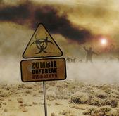 Zombies desert sign — Stock Photo