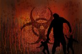 Biohazard rusty zombies — Stock Photo