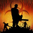 Slayer with chainsaw horizontal — Stock Photo #64006883