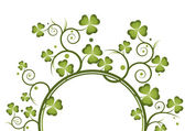 St pat curly frame 1 — Stock Vector