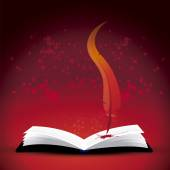 Bloody book — Stock Vector