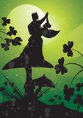 王子緑の妖精 — ストックベクタ
