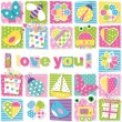I love you pattern — Stock Vector #62868137