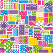 Birthday presents pattern — Stock Vector