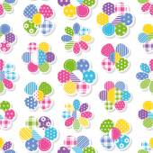 Flowers collection pattern — Stock Vector