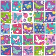Butterflies collection pattern — Stock Vector #62878117