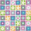 Colorful flowers collection pattern — Stock Vector #62879675