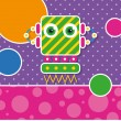 Cute robot greeting card — Stock Vector #62881303