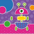 Cute robot greeting card — Stock Vector #62881321