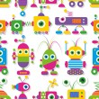 Cute robots collection pattern — Stock Vector #62884535