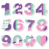 Cute birthday numbers collection — Stock Vector