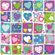 Colorful hearts collection pattern — Vettoriale Stock  #62901699