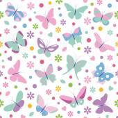 Modello di farfalle — Vettoriale Stock