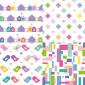 Colorful pattern collection — 图库矢量图片