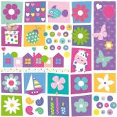 Colorful birthday pattern — Stock Vector