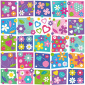 Colorful flowery pattern — Stock vektor
