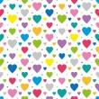 Colorful hearts pattern — Stock Vector #62992617