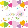 Colorful hearts I love you card — Stock Vector #62992935