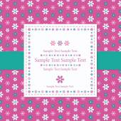 Flowery pink greeting card — Vetorial Stock