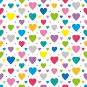 Colorful hearts pattern — Stock Vector