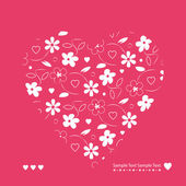 Hearts and flowers greeting card — Stock vektor