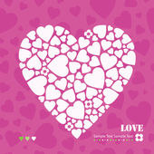 Hearts greeting card — Stock Vector
