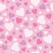 Pink hearts pattern — Stock Vector