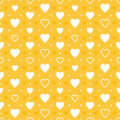 Yellow hearts pattern — Stock Vector