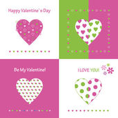 Love and friendship cards set — Stock Vector